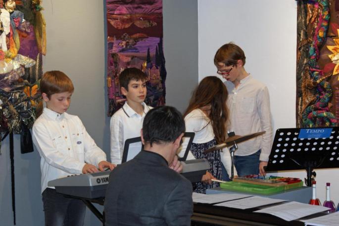 L'école de musique Tempo à égayé le vernissage