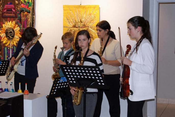 Les élèves de l'école de musique Tempo