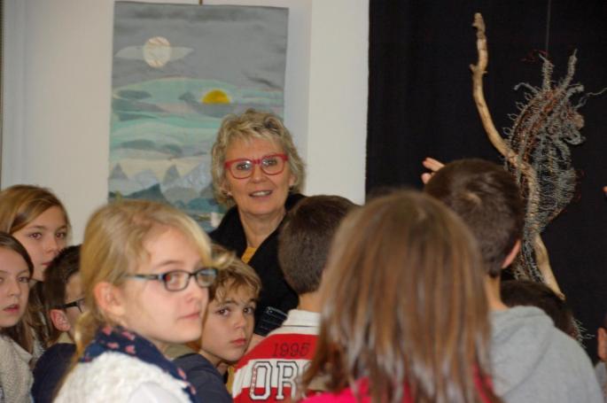 Les scolaires visitent l'exposition