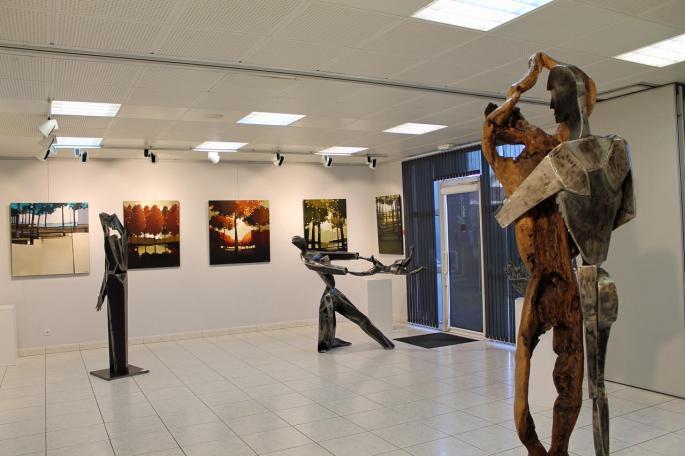 Sculptures de Philippe Pateau et toiles de Patrice Grimaud
