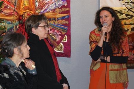 Vernissage : Tiana Guénant, Odile Francheteau et Francine Beg