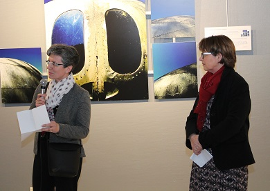 Christine rampillon adjoint a la culture presente l exposition